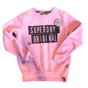 Superdry Pink Harriet Patch Crew Neck Sweatshirt